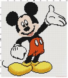 Mickey Mouse cross stitch pattern