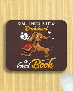 All I Need Is My Dachshund Dog A Good Book Mugs - Chocolate crusoe the celebrity dachshund, dachshund bed, white dachshund #DachshundsAsEverything #dachshundsinscotland #dachshundsrule, dried orange slices, yule decorations, scandinavian christmas Dapple Dachshund Puppy, Dachshund Funny, Black Dachshund, Dachshund Puppies For Sale, Dachshund Quotes, Dachshund Shirt, Wire Haired Dachshund, Dachshund Gifts, Dachshund Love