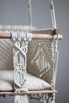 Polka_knot macrame baby swing Annabel small von polkaknot auf Etsy