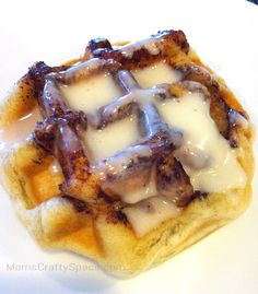 I've been making muffin mixes in waffle form for years now, so I don't know why it never occurred to me to do the same thing with Pilsbury cinnamon rolls until I saw it on Pinterestthe other day. Just heat up your waffle iron, pop the cinnamon rolls into the wells (one cinnamon roll per waffle), and cook for a few minutes. Keep an eye on it so that thecinnamon sugar doesn't start to burn since it can happen rather  {Read More}