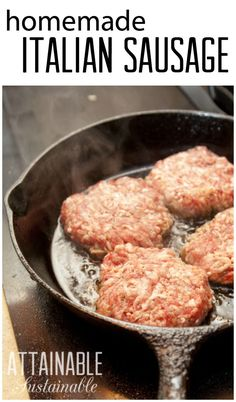 Making your own Italian sausage is surprisingly easy. Start with fresh ground pork, add some spices and a splash of wine and you're ready to cook breakfast!