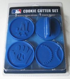 Amazon.com: MLB Los Angeles Dodgers Officially Licensed Set of Cookie Cutters: Sports & Outdoors