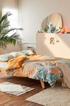 Shop Clara Boho Jungle Duvet Cover Set at Urban Outfitters today. Bed Sets, Queen Bed Dimensions, Duvet Covers Urban Outfitters, Uo Home, New Room, Duvet Cover Sets, Decoration, Room Inspiration, Bedding Sets