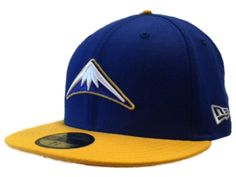 54b95bfae4bed Denver Nuggets New Era 59Fifty Blue Gold Classic NBA Fitted Hat Cap