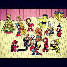 Marvel holidays - Peanut Style. So Cute!
