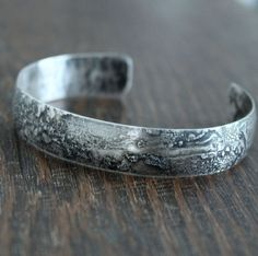 Men's Rustic Silver Bracelet Sterling Silver Cuff Bracelet, Silver Bangle Bracelets, Bracelets For Men, Silver Metal, Jewelry Making, Rustic, Products, Women, Country Primitive
