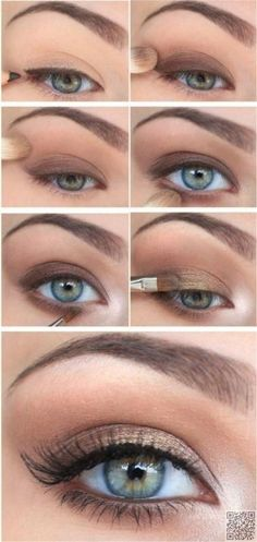 Step by Step eye look for the day time