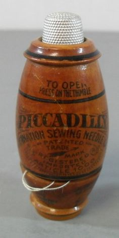 Antique 1900's Piccadilly Combination Sewing Needle Case