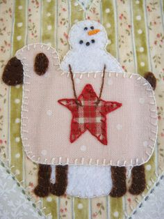 Patchwork Allsorts: March Snow Happy Heart Block