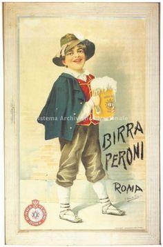 Birra Peroni, pubblicita' Ciociaretto, 1910