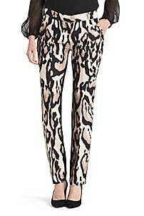 Mary Leopard Print Pant in Leopard Bark by DVF