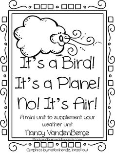"""Weather Unit Supplement, """"It's a Bird! It's a Plane! No! It's Air!"""" (from First Grade WOW)"""