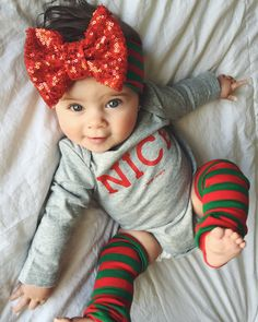 Totally doing this for E for her first Christmas. She'll have so much hair by then