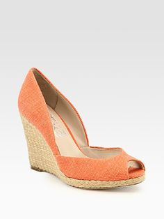 espadrille wedge love - been looking for something like this I can wear to work all summer!