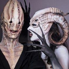 Prosthetics - 29 Amazing Works of Special Effects Makeup You& Makeup Fx, Movie Makeup, Scary Makeup, Special Makeup, Special Effects Makeup, Face Off, Halloween Kostüm, Halloween Makeup, Cinema Makeup School