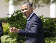 U.S. President Barack Obama is pictured on the South Lawn of the White House in Washington, April 19, 2012, after welcoming the BCS National Champion University of Alabama Crimson Tide in honor of their 14th championship.