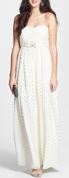 Ivanka Trump Print Chiffon Dress - would love this with a little jacket or sweater, would never let my arms show like that...too scary.