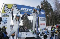 Sebastien Ogier consigue la primera victoria para Volkswagen, en la nieve de suecia