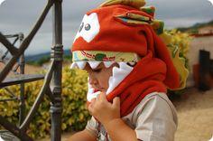 Mireia's World: Preparando el invierno: Monstruoso Gorro polar+braga cuello / Let's go to prepare the winter: Monster Fleece Hat+scarf