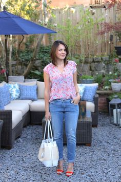 Joie blouse and jean