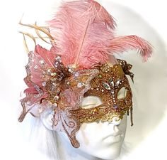 Venetian Rose Masquerade Mask Lace Masks by Marcellefinery on Etsy