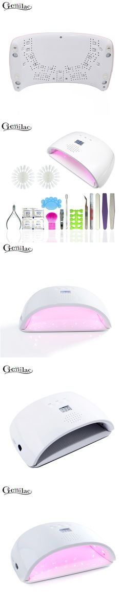 Genilac Full Nail Art Tools Cure A2 48W UV Lamp Gel Polish Soak Off Base Coat Top Coat Gel Nail Manicure Kits Nail Tool