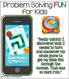 Problem Solving Fun for Kids with the Busy Water App