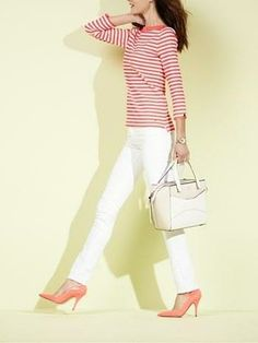 Bonjour spring! Love this top and pant combo by Kate Spade.