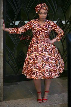 Attractive shweshwe dresses For Women 2019 ShweShwe 1 African Fashion Ankara, Latest African Fashion Dresses, African Print Fashion, South African Traditional Dresses, African Print Dress Designs, Short African Dresses, Shweshwe Dresses, Looks Plus Size, African Attire
