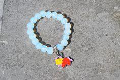 Armband kind meisje jongen in halfedelsteen opaal kleur wit met bedel horoscoop stier e.a. sterrenbeelden naar keuze van 4-12 jaar ongeveer door evysstones op Etsy