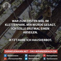 Kletterpark #derneuemann #humor #lustig #spaß #sprüche #klettern