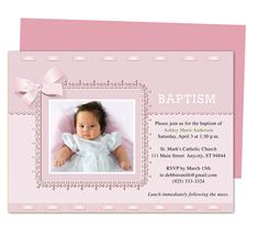 Dana Printable DIY Baby Baptism Invitation Templates editable with Word, Publisher, Apple iWork Pages, OpenOffice. Print yourself or take anywhere to get printed!