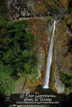 Here are the 10 best easy waterfall hikes in Taiwan.