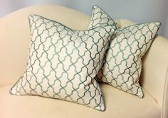 """FALL SALE* Decorative Pillow, WITH Cording, Invisible Zipper, Down Insert, 18x18"""", made from designer fabrics; Kravet-Duralee-Fabricut-Trend by PriscillasDraperyDsg on Etsy"""