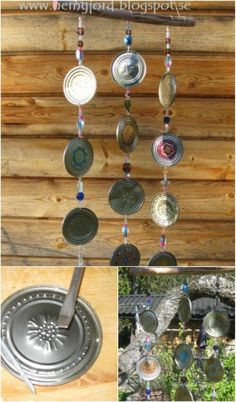 Here are 50incredible tin can recycling projects that will blow your mind! I can't wait to try these projects for myself, and I know you'll be just as excited to do some of these yourself! #diy #upcycle #recycle #tincans #crafts #ecofriendly Aluminum Can Crafts, Aluminum Cans, Metal Crafts, Crafts With Tin Cans, Tin Can Art, Tin Art, Carillons Diy, Soda Can Crafts, Coffee Can Crafts