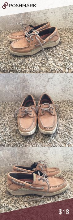 Sperry Top-sider Boys Brown Sperry Top-Sider Shoes, Billfish, size 2.5, good used condition, Sperry Top-Sider Shoes Sneakers