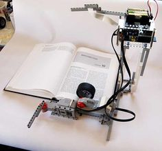 The BrickPi Bookreader robot