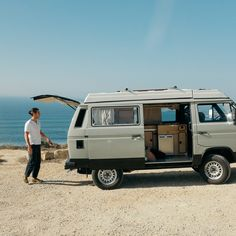 Julie O'Rourke's Portugal road trip diary showcases pristine beaches, lush vineyards, and one Synchro VW van. Bus Camper, Vw Bus, Vw T3 Syncro, Bus Life, Door County, Recreational Vehicles, Portugal, Road Trip, Places To Visit