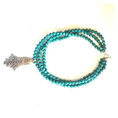 "Akola project 3 strand necklace! teal three strand never been worn Akola project necklace!! 20"" inches in length! Akola Project Jewelry Necklaces"
