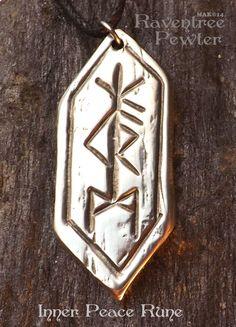 wohlstand rune pewter anh nger nordische germanische viking keltische halskette f r. Black Bedroom Furniture Sets. Home Design Ideas