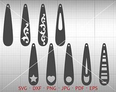 Thin Tear Drop SVG, Earring SVG, Long Pendant svg, Teardrop Vector DXF, Leather Earring Jewelry Laser Cut Template Commercial Use