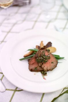 Main course at a Jackson Hole wedding. Beautiful presentation to match the stunning surroundings. Food by Bistro Catering, photography by Carrie Patterson