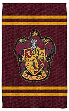 """Amazon.com: Gryffindor Stitch Crest -- Harry Potter -- Beach Towel (36"""" x 58""""): Home & Kitchen"""