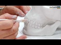 Art Lesson: How to make a Skull using Air Hardening Modelling Clay - YouTube (good tips even if we use fired clay)
