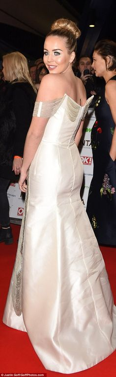 The stiff dress was old-fashioned and the bizarre fringing doesn't improve it Georgie Porter, National Tv Awards, Fashion Fail, In The Flesh, Red Carpet Fashion, Hemline, Bridal Gowns, Bright, Formal Dresses