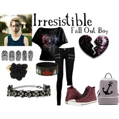 Irresistible ( Fall Out Boy) by fangirlcertified786 on Polyvore featuring Paige Denim, Converse, Dasein and Topshop