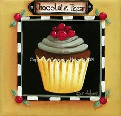 Cupcake Print Chocolate Pecan. $16.95, via Etsy.