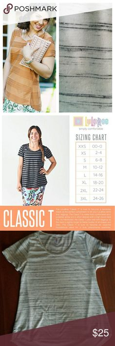 《▪JUST IN▪》 Classic Black and White top in very good condition! No holes, rips or stains. Pics 3-4 are of actual top you are purchasing. This fabric doesn't have much stretch to it. Washed and dried according to LLR instructions. LuLaRoe Tops