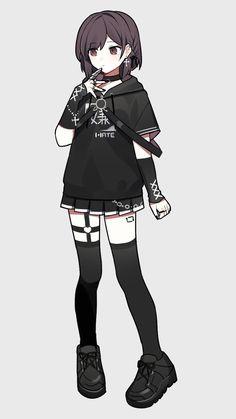 Anime Girl Dress, Manga Anime Girl, Cool Anime Girl, Kawaii Anime Girl, Anime Girls, Anime Drawings Sketches, Kawaii Drawings, Cute Drawings, Cute Art Styles