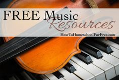 Free Music Resources - Leaning music theory & learning an instrument for FREE!